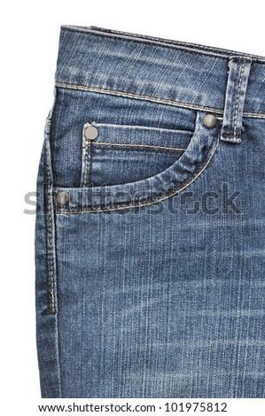 Blue jeans pocket - stock photo