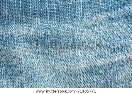 blue jeans sewing texture, extreme closeup photo - stock photo