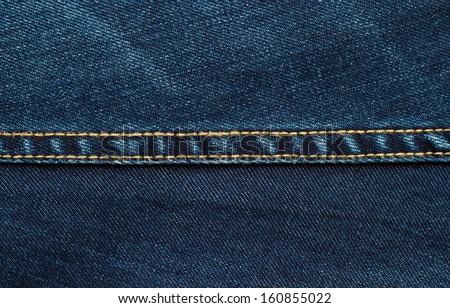 Blue Jeans Texture - stock photo