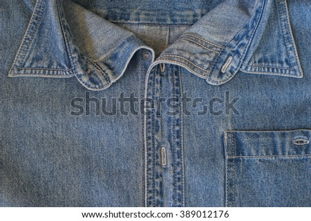 blue jeans texture or detail ,close up.  - stock photo