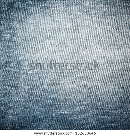 Blue Jeans Texture, Pattern, Background - stock photo