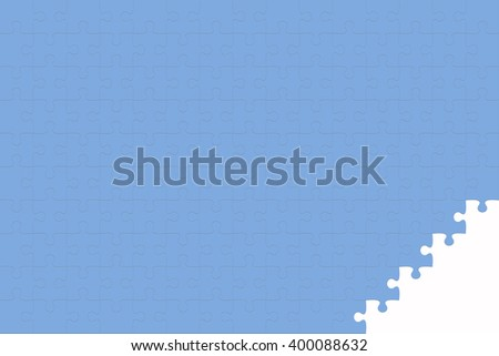 Blue Jigsaw puzzle - stock photo