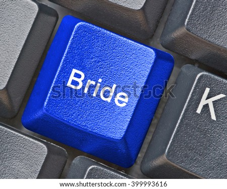 Blue key for search of bride