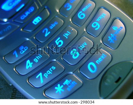 Blue Keypad - stock photo