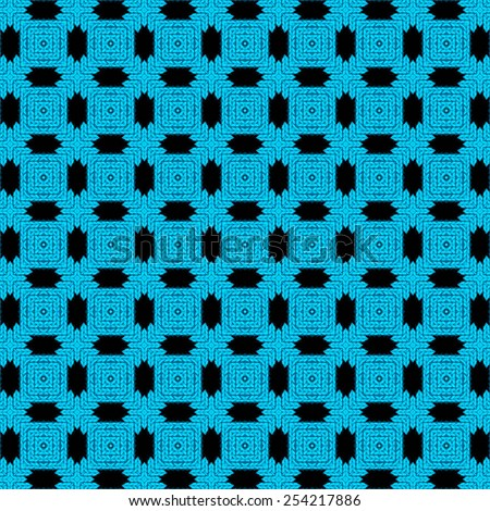 blue knitted geometry background for your design