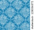 Blue lace flowers seamless pattern background raster - stock photo