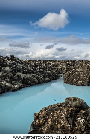 Blue Lagoon - Iceland - stock photo