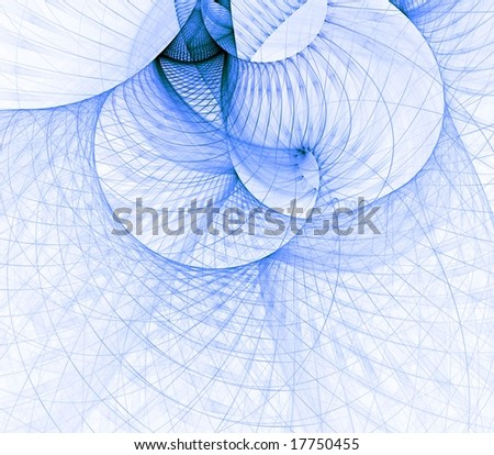 Blue layered netting design - fractal abstract background