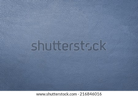 blue leather background or texture - stock photo