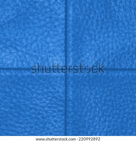 blue leather background,seams