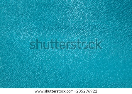Blue leather horizontal texture for background