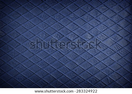 Blue leather, texture - stock photo