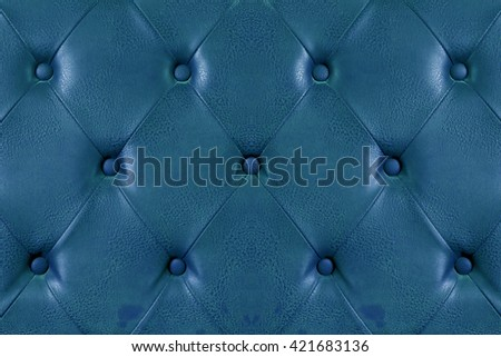 Blue leather texture background. - stock photo