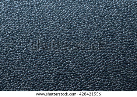 Blue leather texture or leather background for design with copy space for text or image. - stock photo