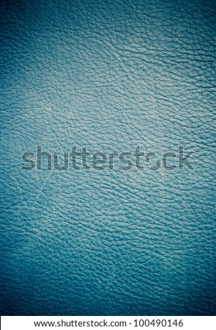 Blue leather with gradient - stock photo