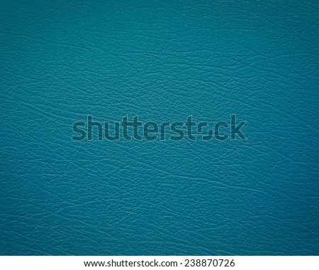 Blue leather with texture/structure - stock photo