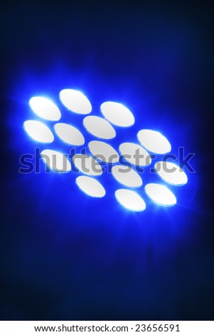 Blue LED - stock photo