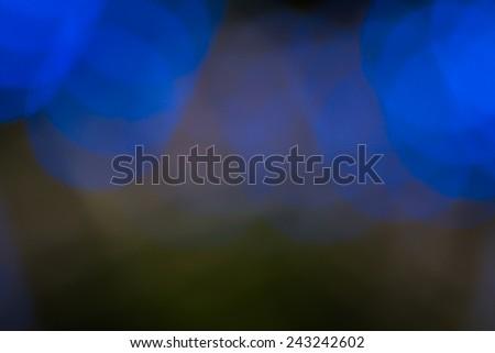 blue light bokeh background - stock photo