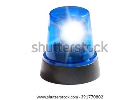Blue light isolated - stock photo