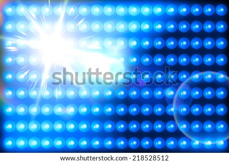 blue light panel background glowing with some flare - stock photo