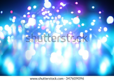 Blue lights abstract background - stock photo