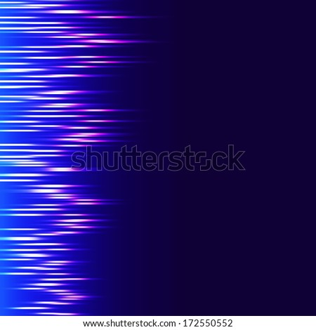 Blue lines equalizer  - stock photo