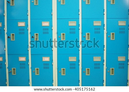 blue locker - stock photo