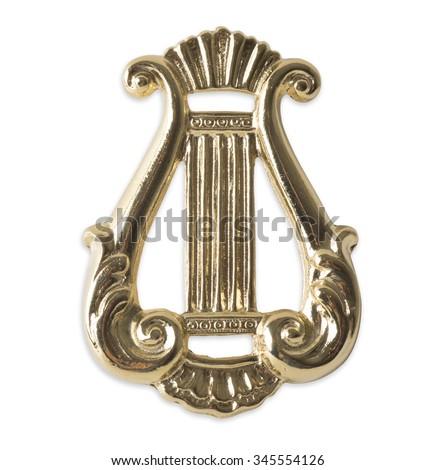 Blue Lodge officerJewel. organist. Freemasonry - stock photo