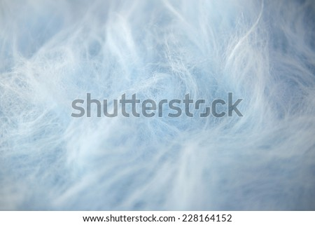 Blue long haired faux fur background - stock photo