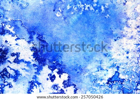 Blue Macro Watercolor 2 - stock photo