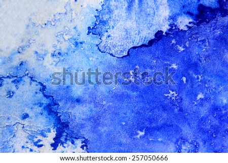 Blue Macro Watercolor 5 - stock photo