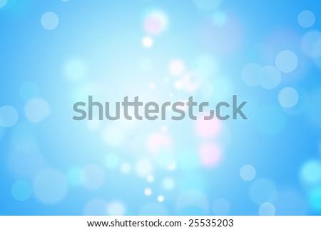 Blue magic background - stock photo