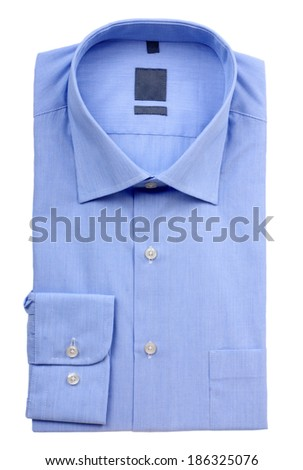 Blue man's shirt - stock photo