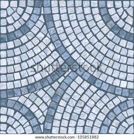 Blue marble-stone mosaic texture. (High.res.) - stock photo