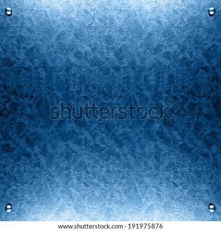 blue metal - stock photo
