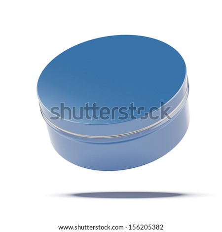 Blue metal jar - stock photo