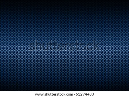 Blue Metal Plating, background - stock photo