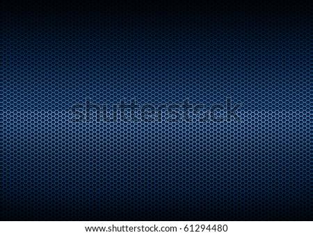Blue Metal Plating, background - stock photo