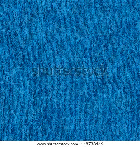 Blue Microfiber Textile Surface. Seamless Tileable Texture. - stock photo