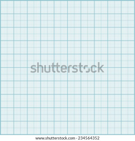 Blue millimeter paper background. Square grid background. Raster  illustration. - stock photo