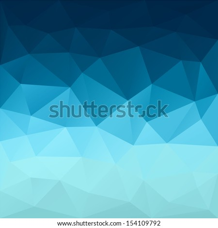 Blue modern geometric background. Abstract background for design. Retro colorful background. There is a vector version in my portfolio. - stock photo