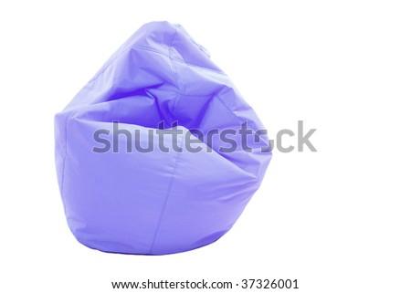 Blue modern sofa on white background - stock photo