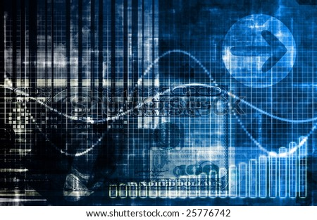Blue Money Technology Business Background as Art
