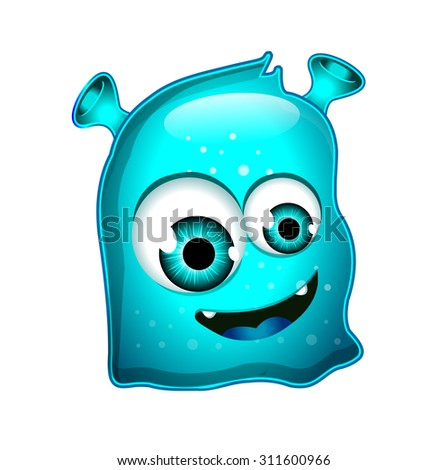 Blue Monsters Character - stock photo