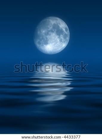 Blue Moon - stock photo