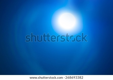 Blue moon with soft blur. - stock photo
