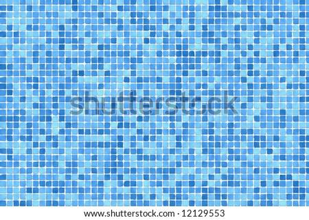 Blue mosaic - stock photo