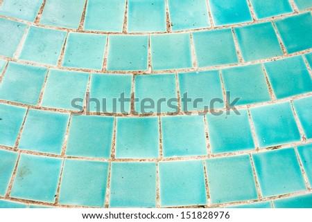 Blue mosaic tile, background  - stock photo