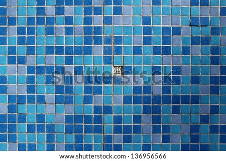 blue mosaic with one missing element