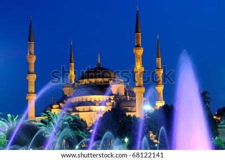 Blue mosque and fountain, Istanbul